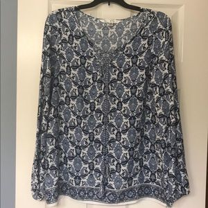 Max Studios Blue and White Blouse